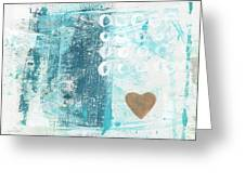 Heart In The Sand- Abstract Art Greeting Card