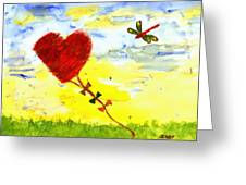 Heart Kite Greeting Card