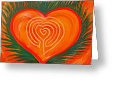 Heart Labyrinth Greeting Card