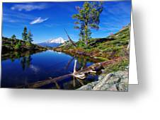 Heart Lake And Mt Shasta Reflection Greeting Card
