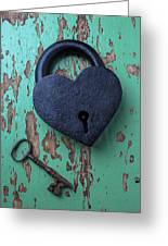 Heart Lock And Key Greeting Card