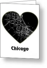 Heart Map Chicago Greeting Card