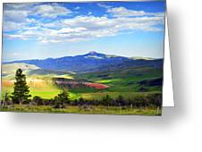 Heart Mtn And Chief Joseph Hwy Greeting Card