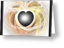Heart N Soul Fractal Greeting Card