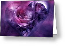 Heart Of A Rose - Burgundy Purple Greeting Card