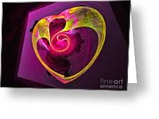 Heart Of Gold Greeting Card