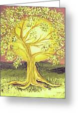 Heart Of Gold Tree By Jrr Greeting Card