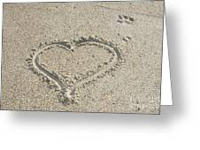 Heart Of Sand Greeting Card
