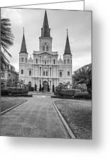 Heart Of The French Quarter Monochrome Greeting Card
