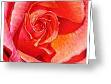 Heart Of The Rose #1 Greeting Card