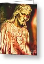 Heart Of The Savior Greeting Card