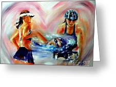 Heart Of The Triathlete Greeting Card