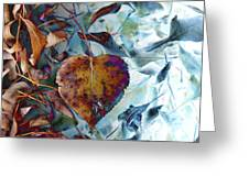 Heart On My Leaves Greeting Card