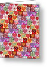 Heart Patches Greeting Card