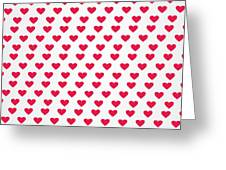 Heart Patterns Greeting Card