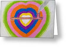 Heart Pipe Greeting Card