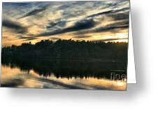Heart Pond Sunset Greeting Card