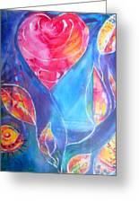 Heart Rose Greeting Card