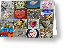 Heart Shape Collage  Greeting Card