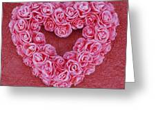 Heart-shaped Floral Arrangement Greeting Card