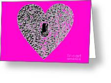 Heart Shaped Lock - Pink Greeting Card
