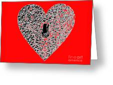 Heart Shaped Lock - Red Greeting Card