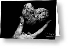Heart Shaped Rock Greeting Card