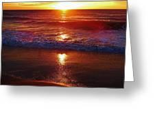 Heart Shaped Sunbeam 2 3/9 Greeting Card