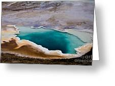 Heart Spring Yellowstone National Park Greeting Card