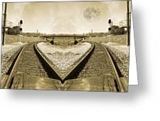 Heart Tracks Greeting Card