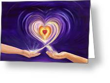 Heart Unity Greeting Card