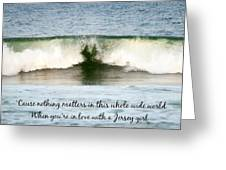 Heart Wave Seaside Nj Jersey Girl Quote Greeting Card