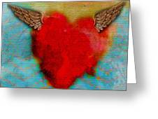 Heart Wings Greeting Card