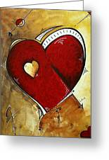 Heartbeat By Madart Greeting Card