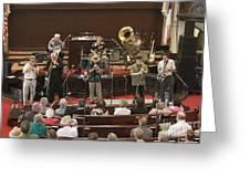 Heartbeat Dixieland Jazz Band Greeting Card