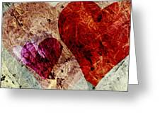 Hearts 10 Square Greeting Card