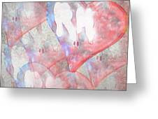 Hearts 15 Square Greeting Card