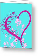 Hearts And Vines Greeting Card