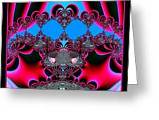 Hearts Ballet Curtain Call Fractal 121 Greeting Card