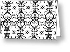 Hearts Black And White Greeting Card