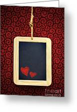 Hearts In Slate Greeting Card