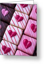 Hearts On Candy Greeting Card