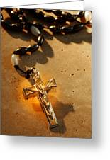 Heavenly Light Rosary  Greeting Card