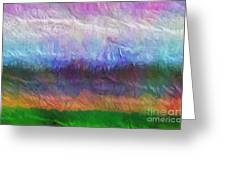 Heaven And Earth Mixed Media Painting Greeting Card