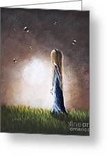 Heaven Heard Her Prayers Tonight By Shawna Erback Greeting Card