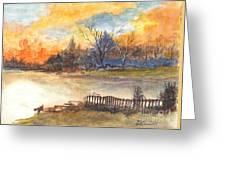 The Serene Sunset Greeting Card