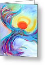 Heaven Sent Digital Art Painting Greeting Card