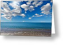 Heavenly Beach Under The Blue Sky Greeting Card