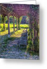 Heavenly Grape Arbor Greeting Card