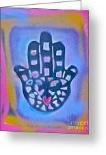 Heavenly Hamza 1 Greeting Card by Tony B Conscious